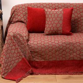 Ριχτάρι Πολυθρόνας (180x180) Anna Riska 1429 Red