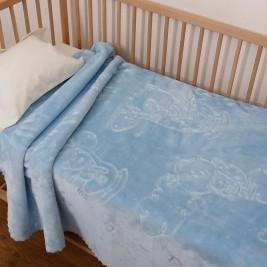 Κουβέρτα Βελουτέ Αγκαλιάς Anna Riska Bear Sky Blue