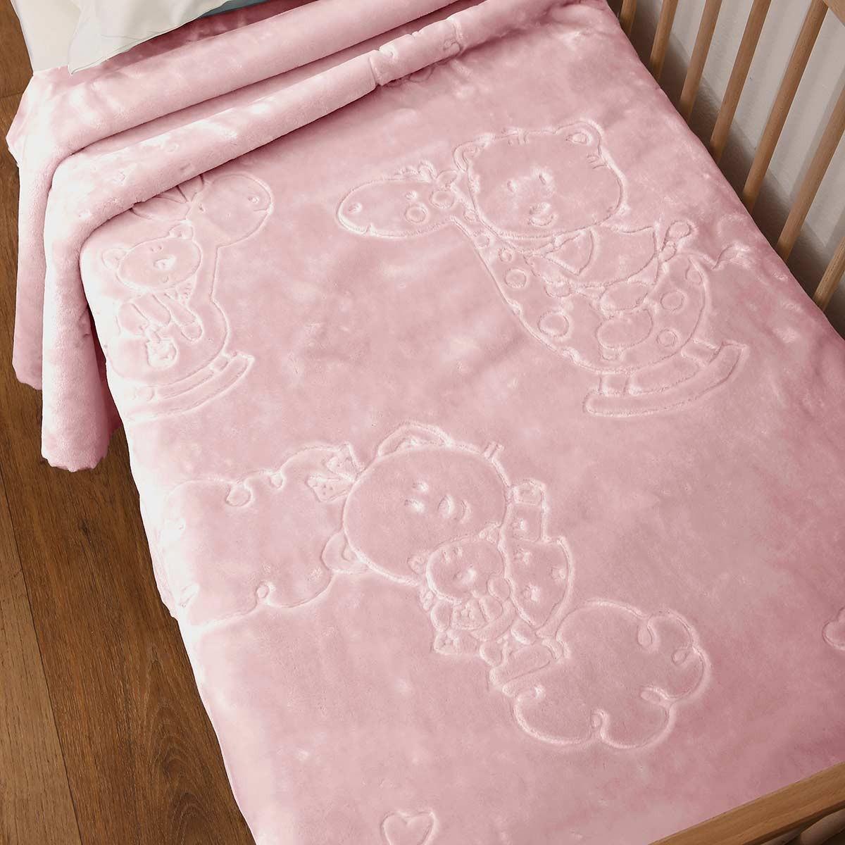 Υπνόσακος Κουβέρτα Βελουτέ Anna Riska Bear Blush Pink 63351
