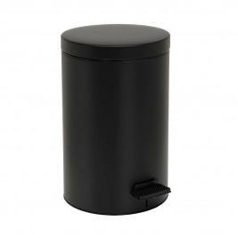 Κάδος Απορριμάτων (25x40) PamCo 12Lit 90 Μαύρο Matte