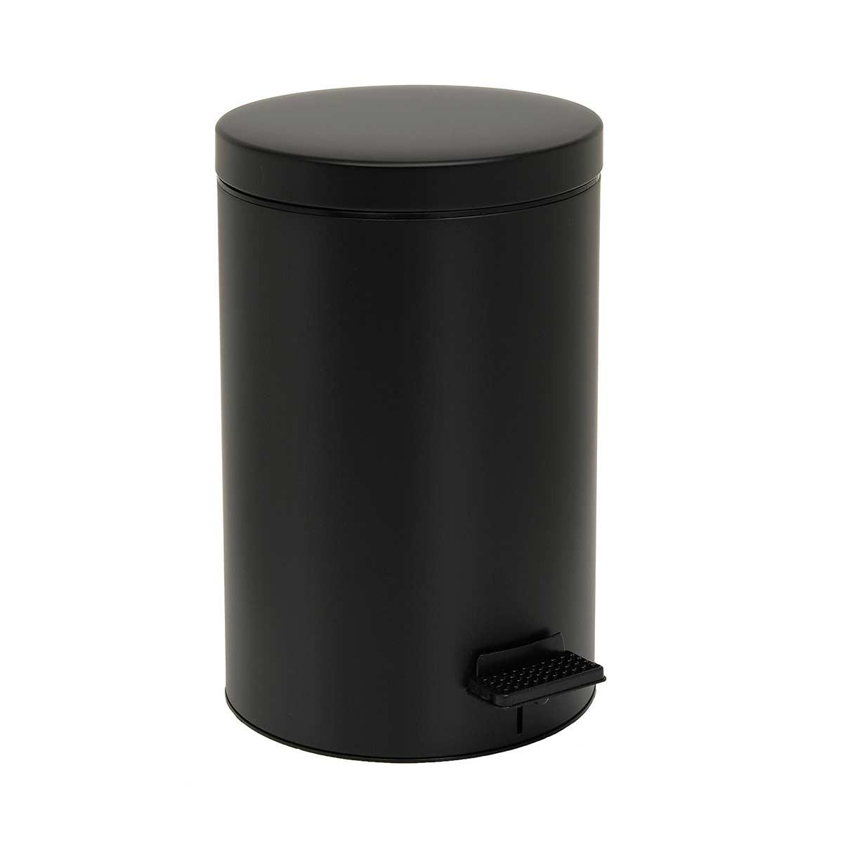 Κάδος Απορριμμάτων (25x40) PamCo 12Lit 90 Black Matte
