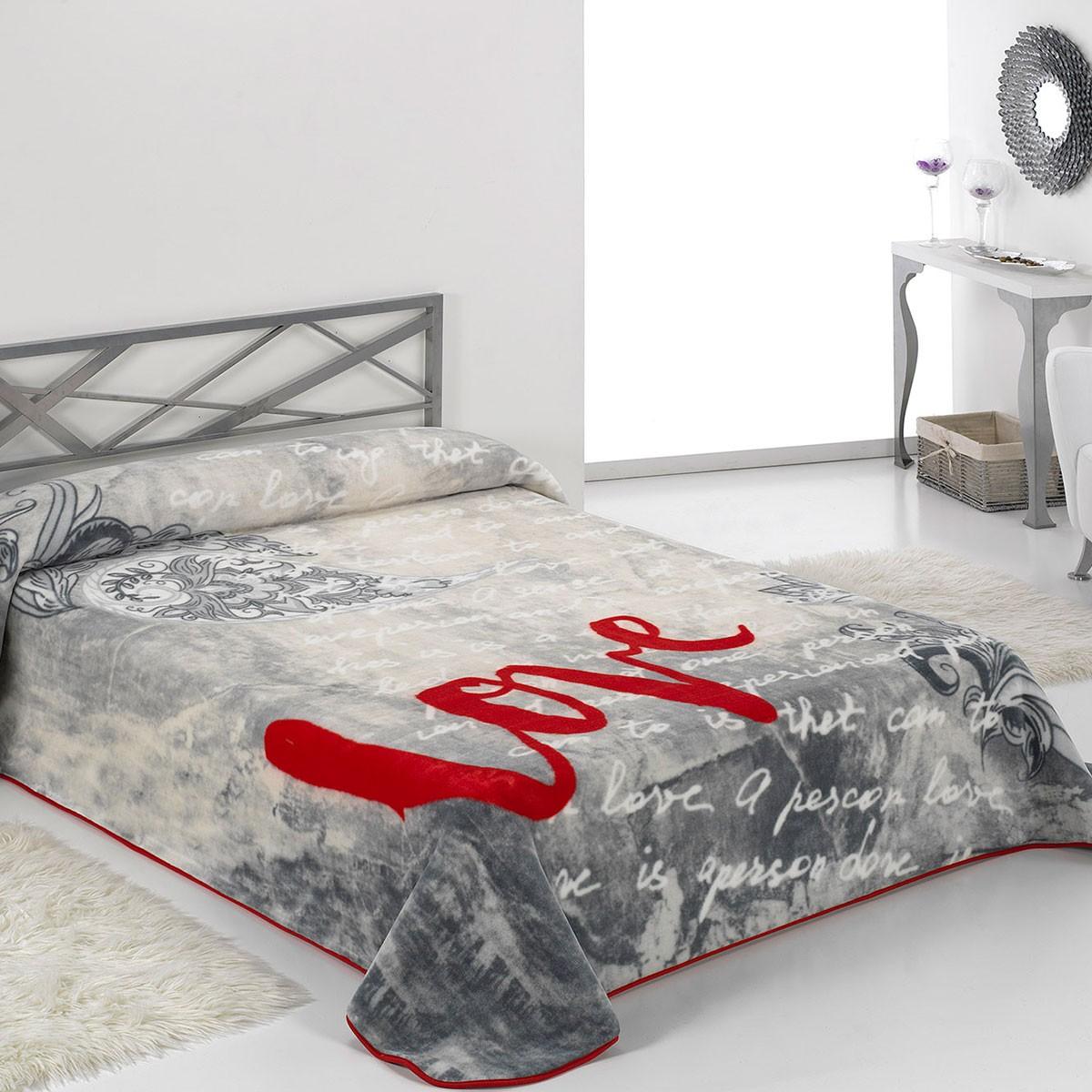 Κουβέρτα Βελουτέ Υπέρδιπλη Morven Premium B25 Grey