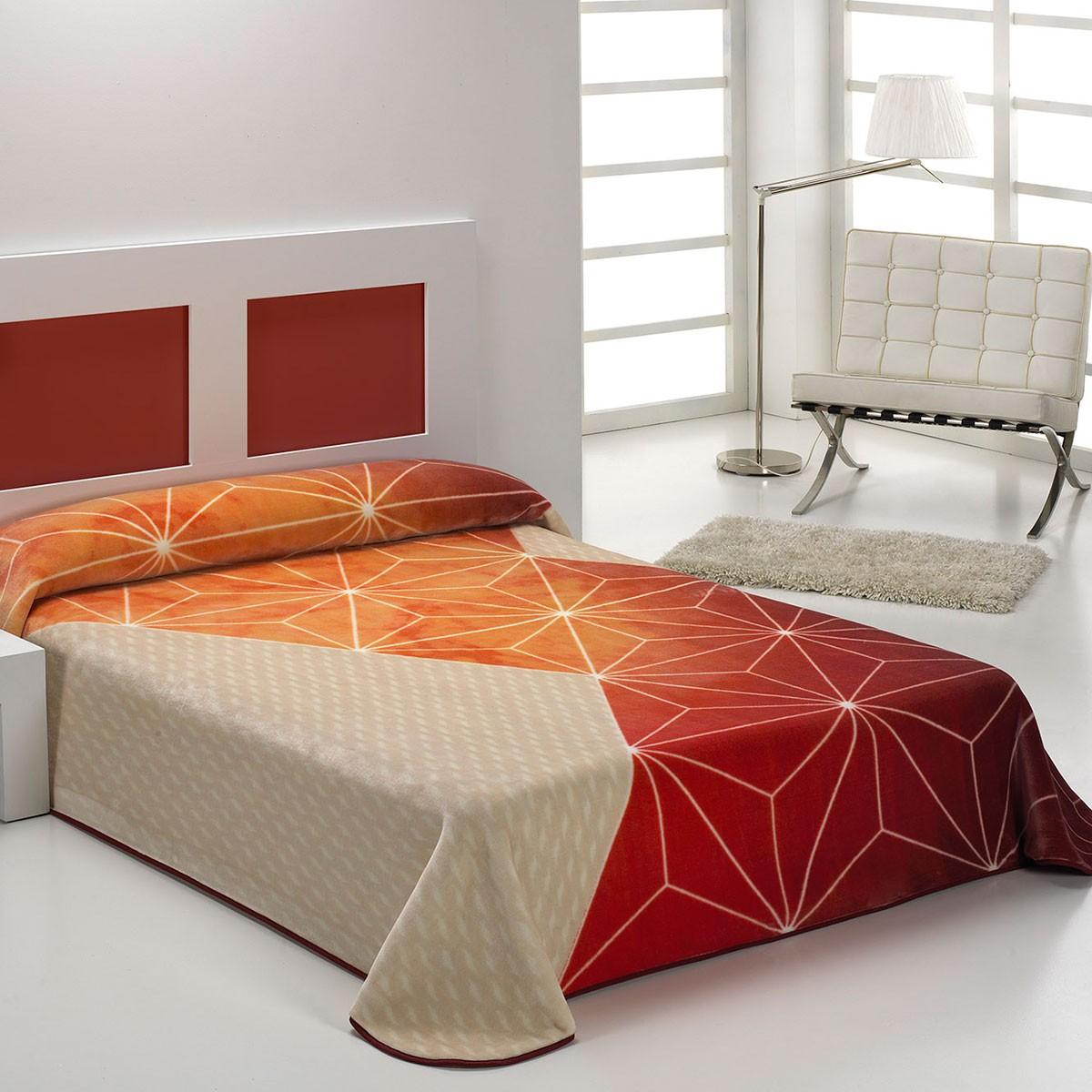 Κουβέρτα Βελουτέ Υπέρδιπλη Morven Nova Linea B44 Red 63531