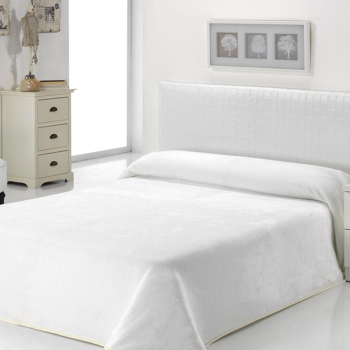 Κουβέρτα Βελουτέ Υπέρδιπλη Morven Dolce B93/10 White