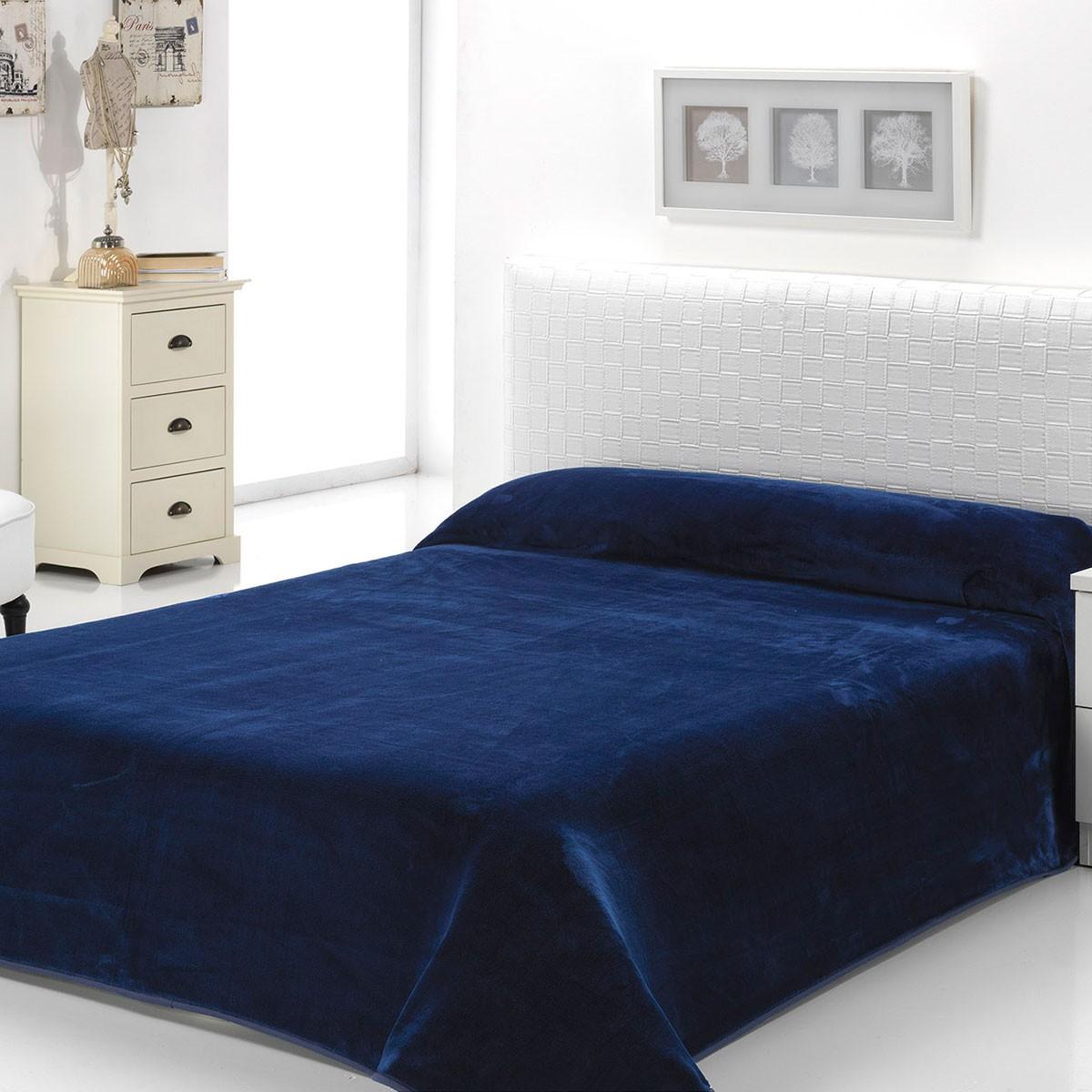 Κουβέρτα Βελουτέ Υπέρδιπλη Morven Dolce B93/15 Blue