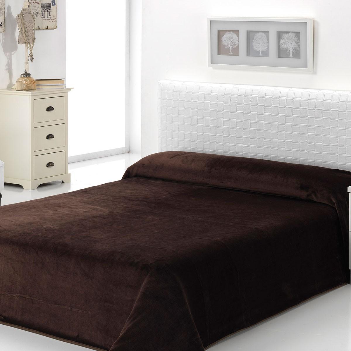 Κουβέρτα Βελουτέ Μονή Morven Dolce B93/33 Brown