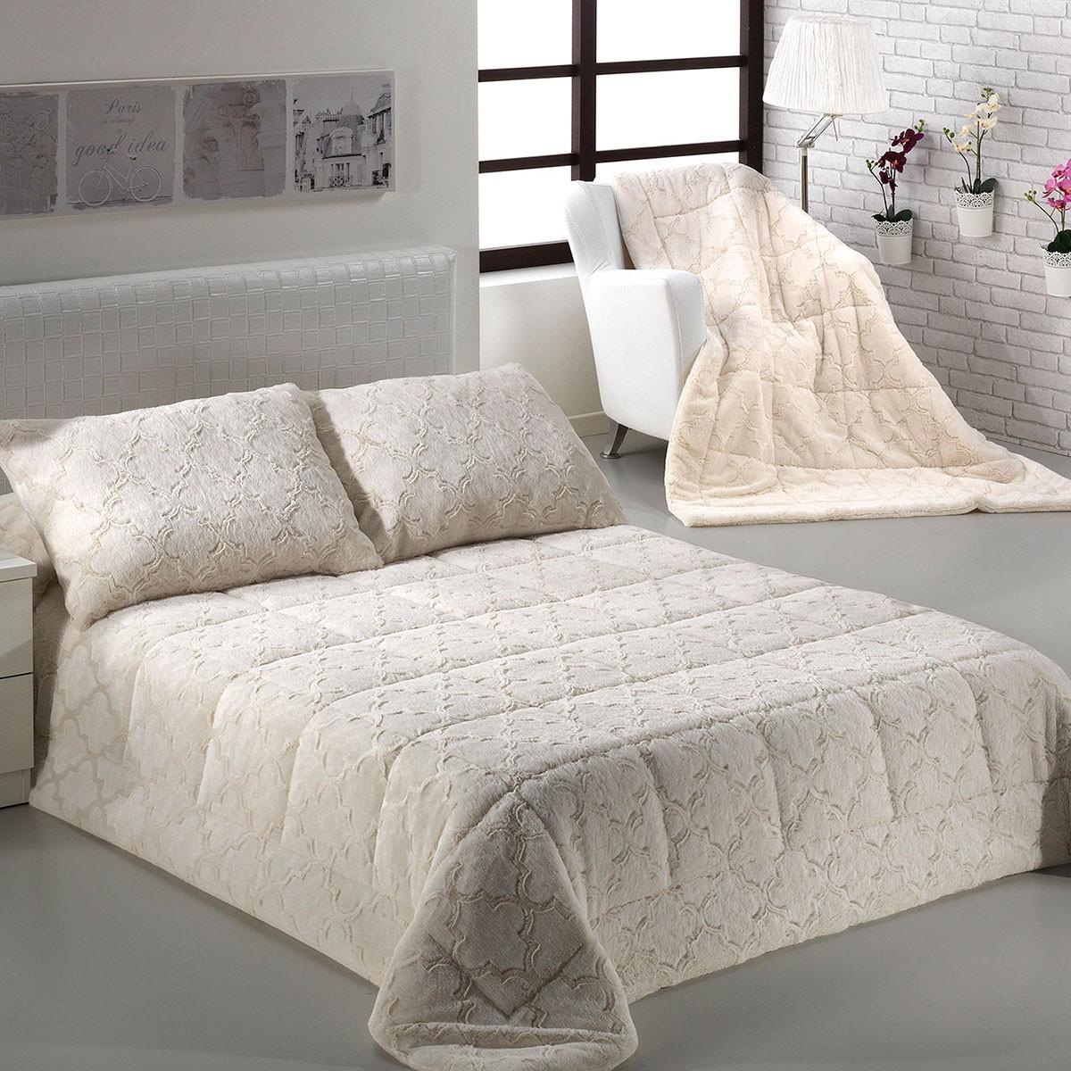 Κουβέρτα Γούνινη Υπέρδιπλη Morven Infinity B37/01 Ecru home   κρεβατοκάμαρα   κουβέρτες   κουβέρτες γούνινες   μάλλινες