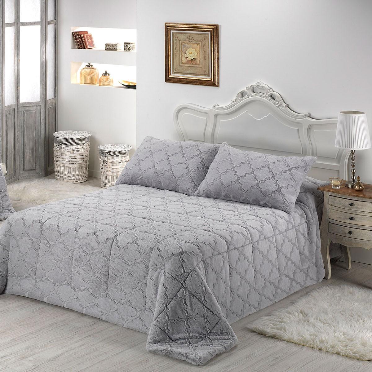 Κουβέρτα Γούνινη Υπέρδιπλη Morven Infinity B37/16 Grey home   κρεβατοκάμαρα   κουβέρτες   κουβέρτες γούνινες   μάλλινες