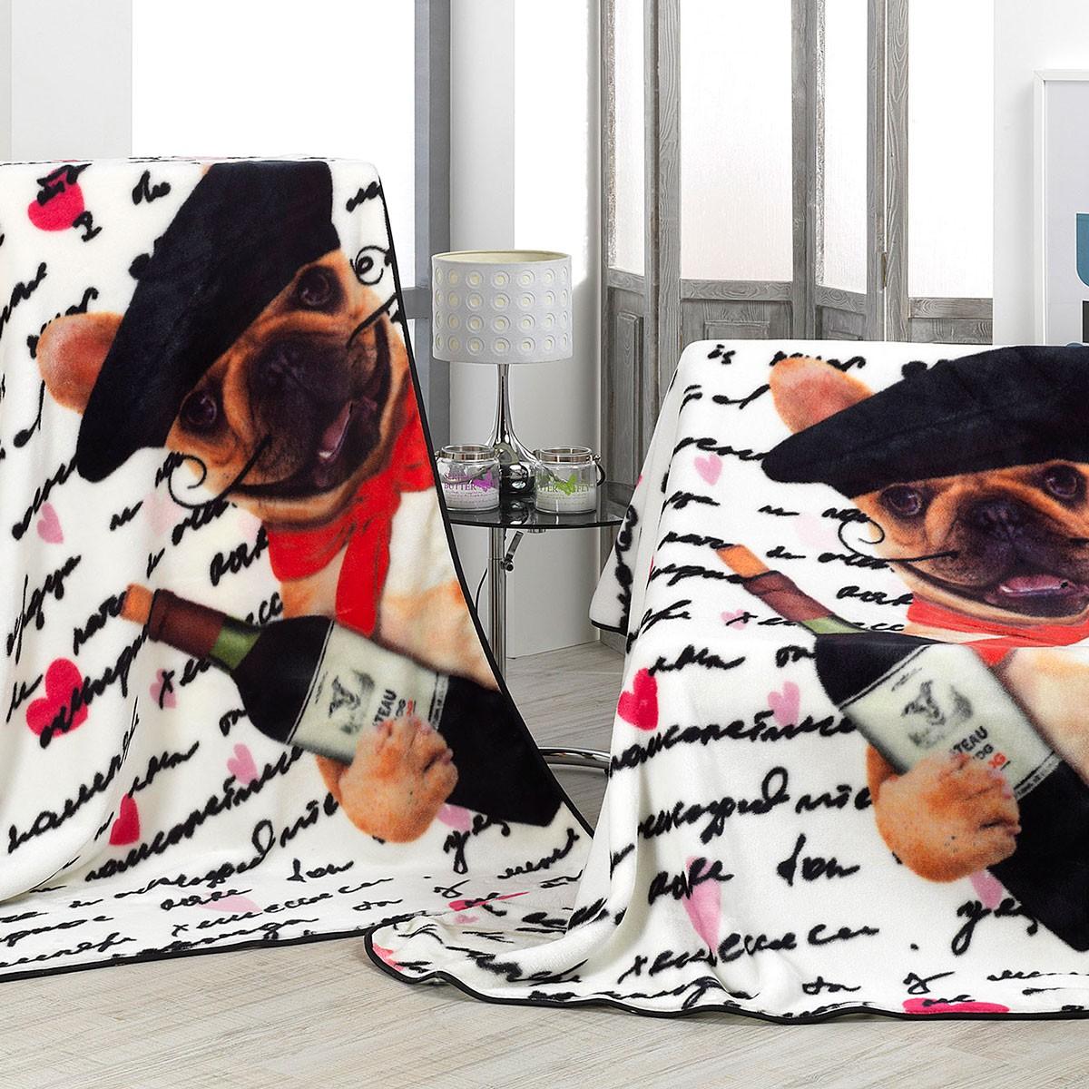 Κουβέρτα Καναπέ Βελουτέ Morven Premium Plaid A85