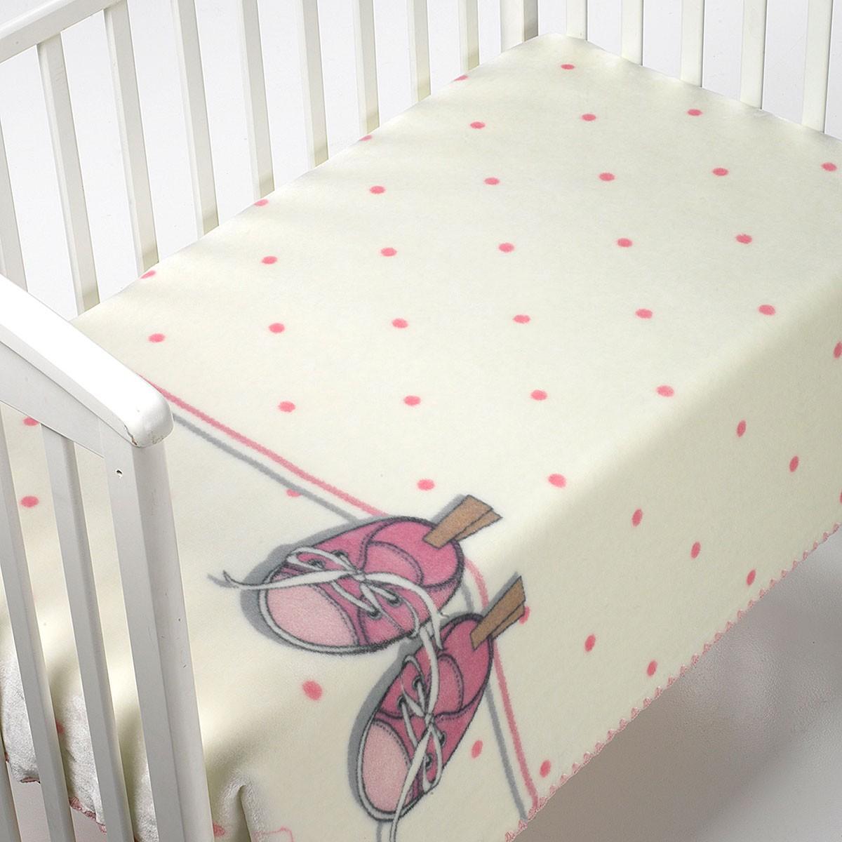 Κουβέρτα Βελουτέ Κούνιας Morven Kidz B51 Pink
