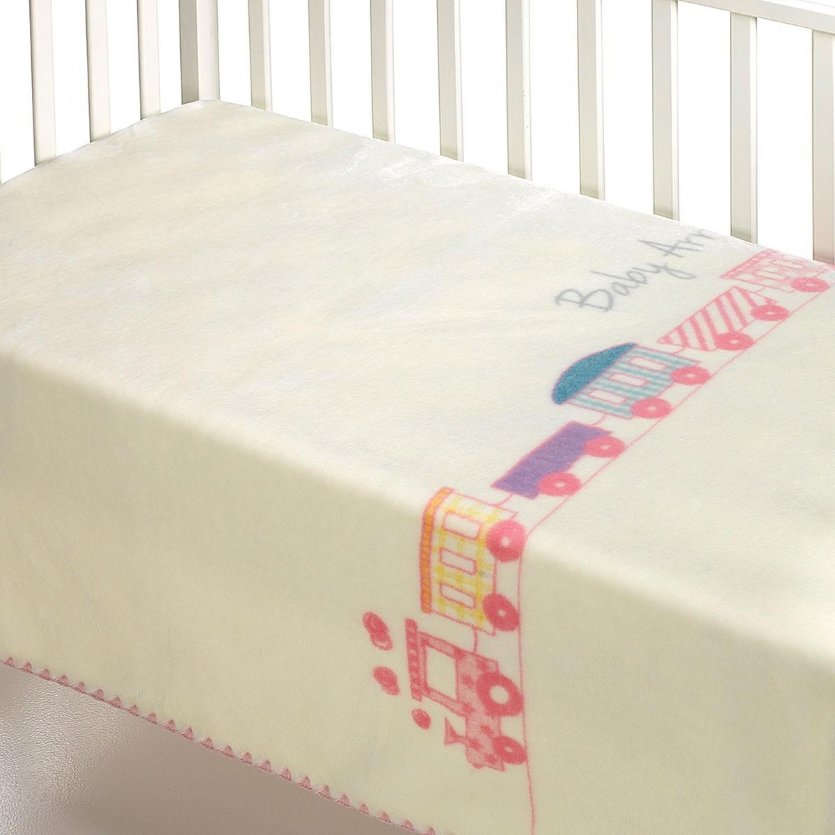Κουβέρτα Βελουτέ Κούνιας Morven Kidz B53 Pink
