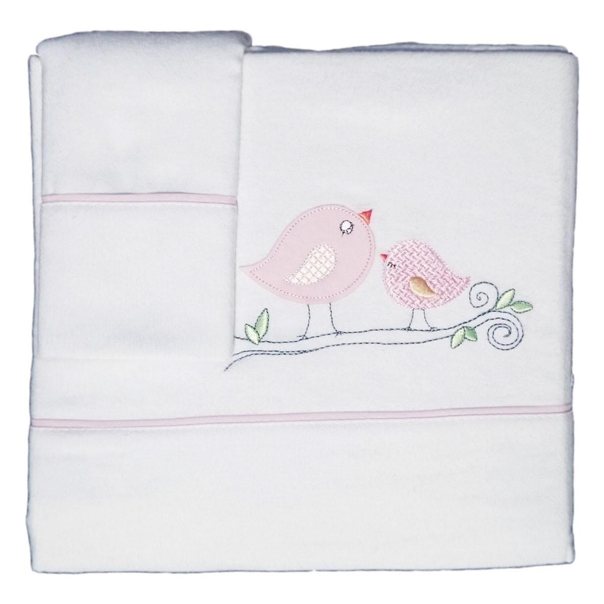 Φανελένια Σεντόνια Κούνιας (Σετ) Morven 525 Pink