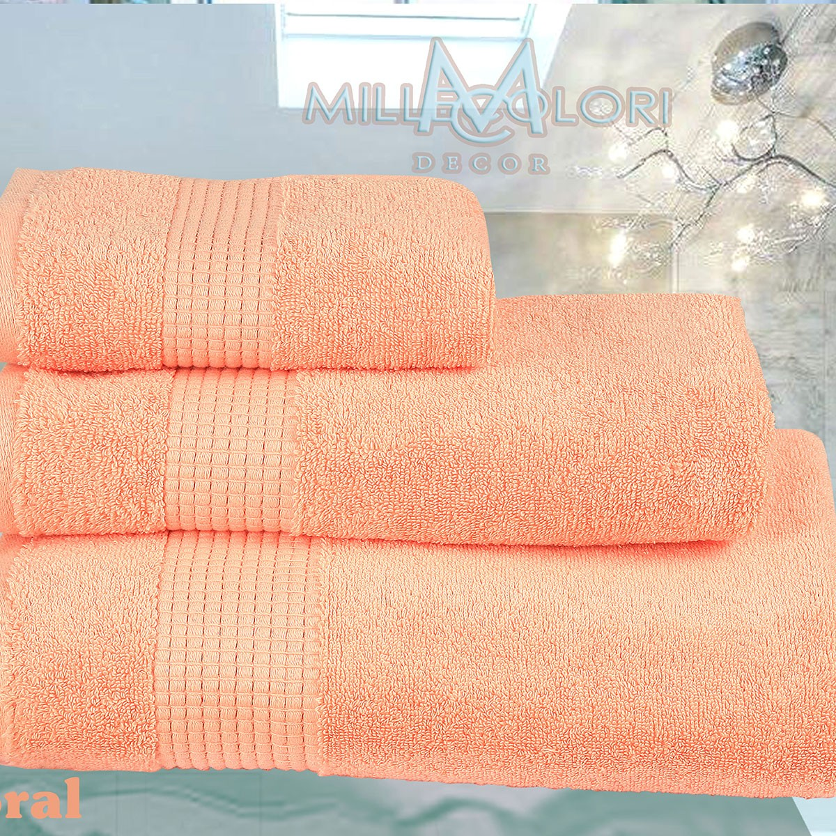 Πετσέτα Προσώπου (50x90) Mc Decor Extra Soft Coral