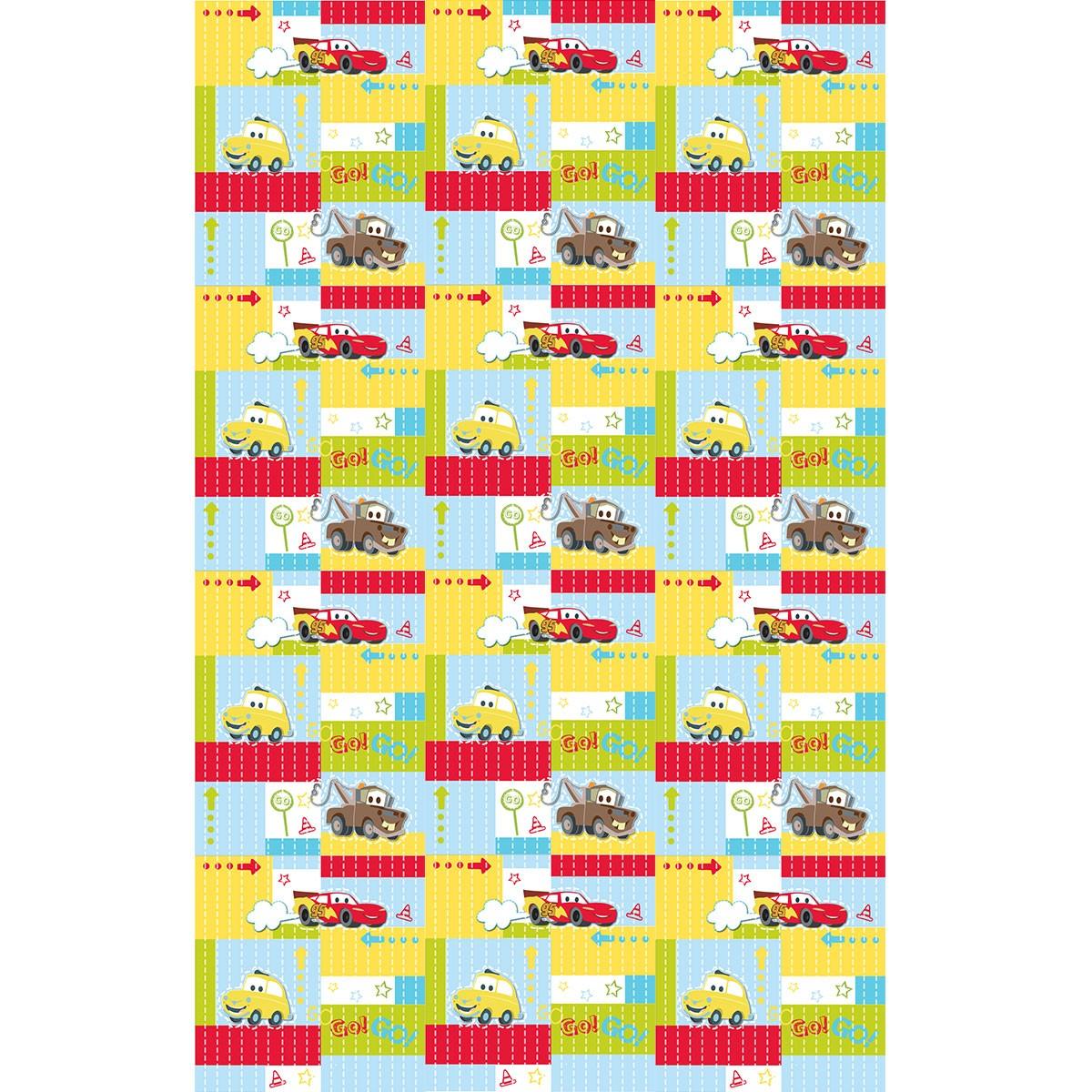 Παιδική Κουρτίνα (140x290) Με Τρέσα Disney Cars CA102 Yellow