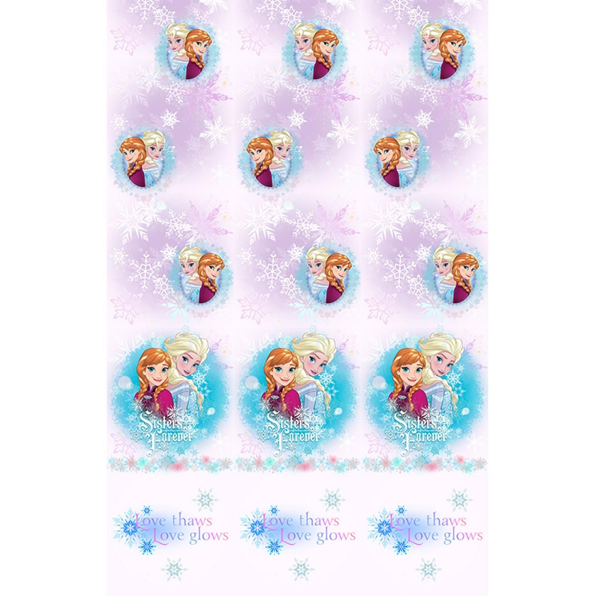 Παιδική Κουρτίνα (140×290) Disney Frozen FR004 White