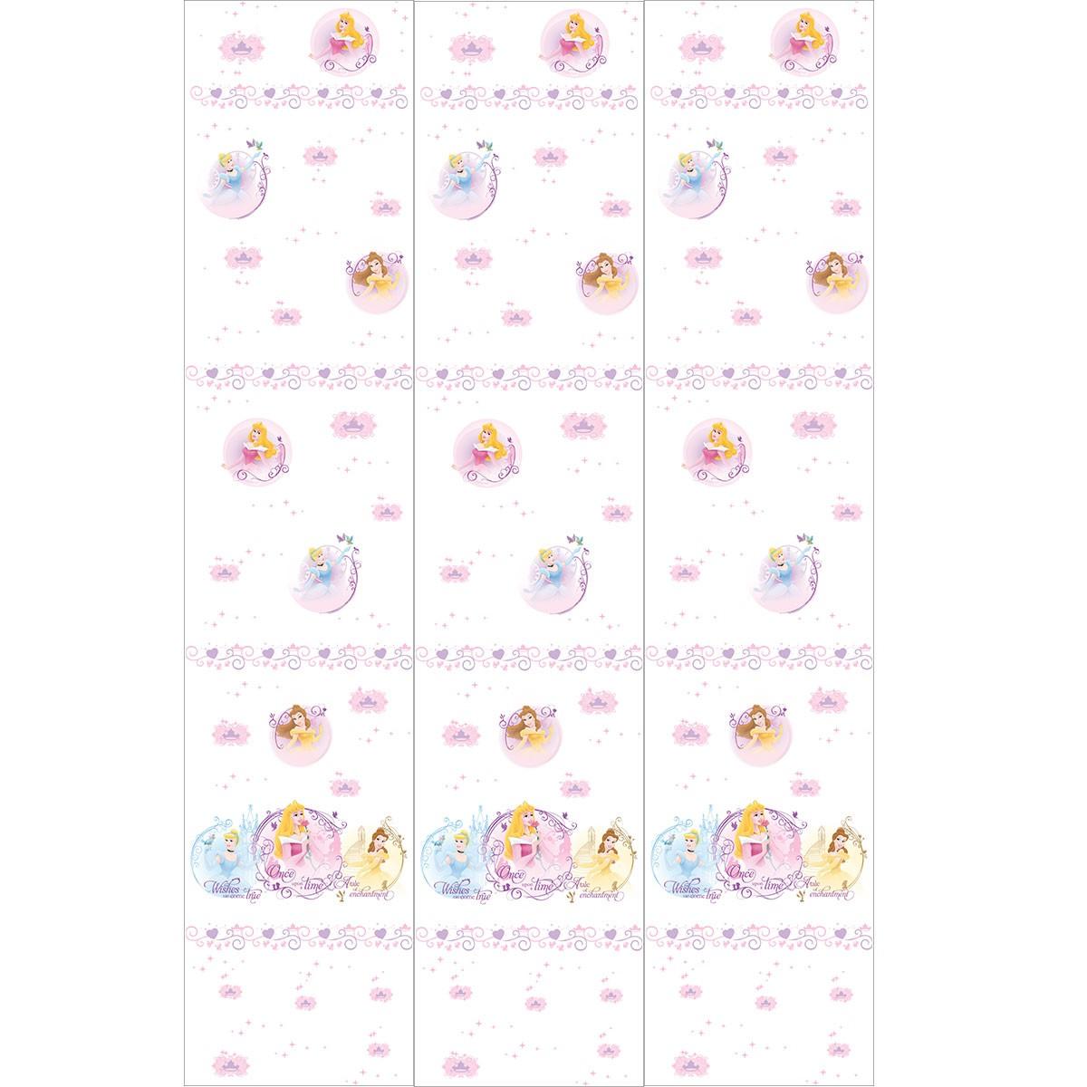 Παιδική Κουρτίνα (140×290) Disney Princess PR013 White
