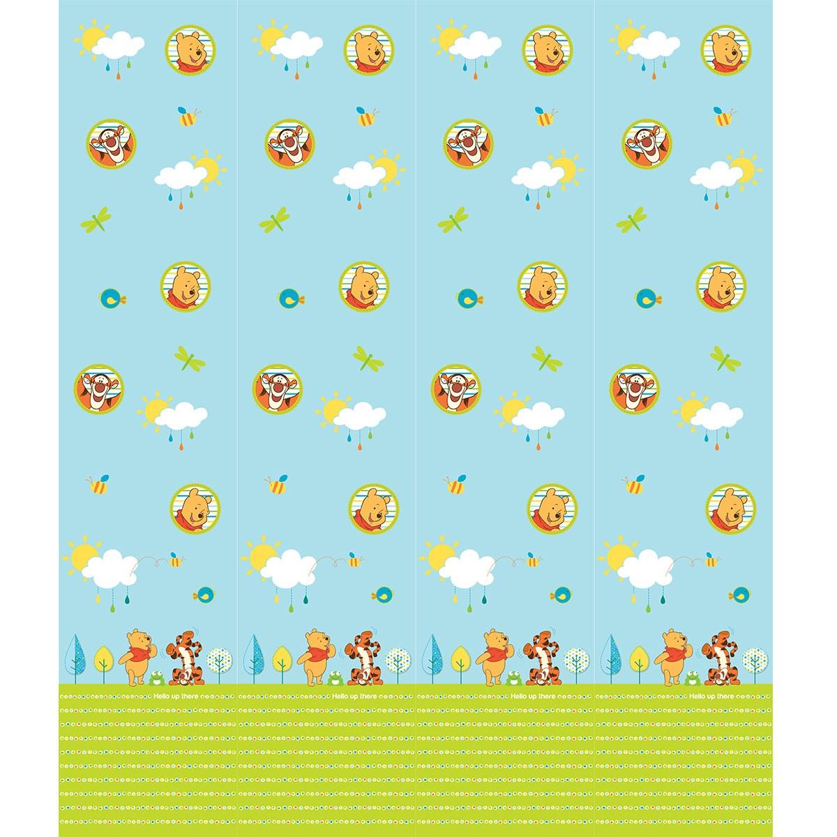 Παιδική Κουρτίνα (140×290) Disney Winnie WP008 Blue 63935