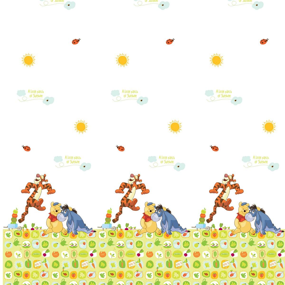 Παιδική Κουρτίνα (140×290) Disney Winnie WP011 White