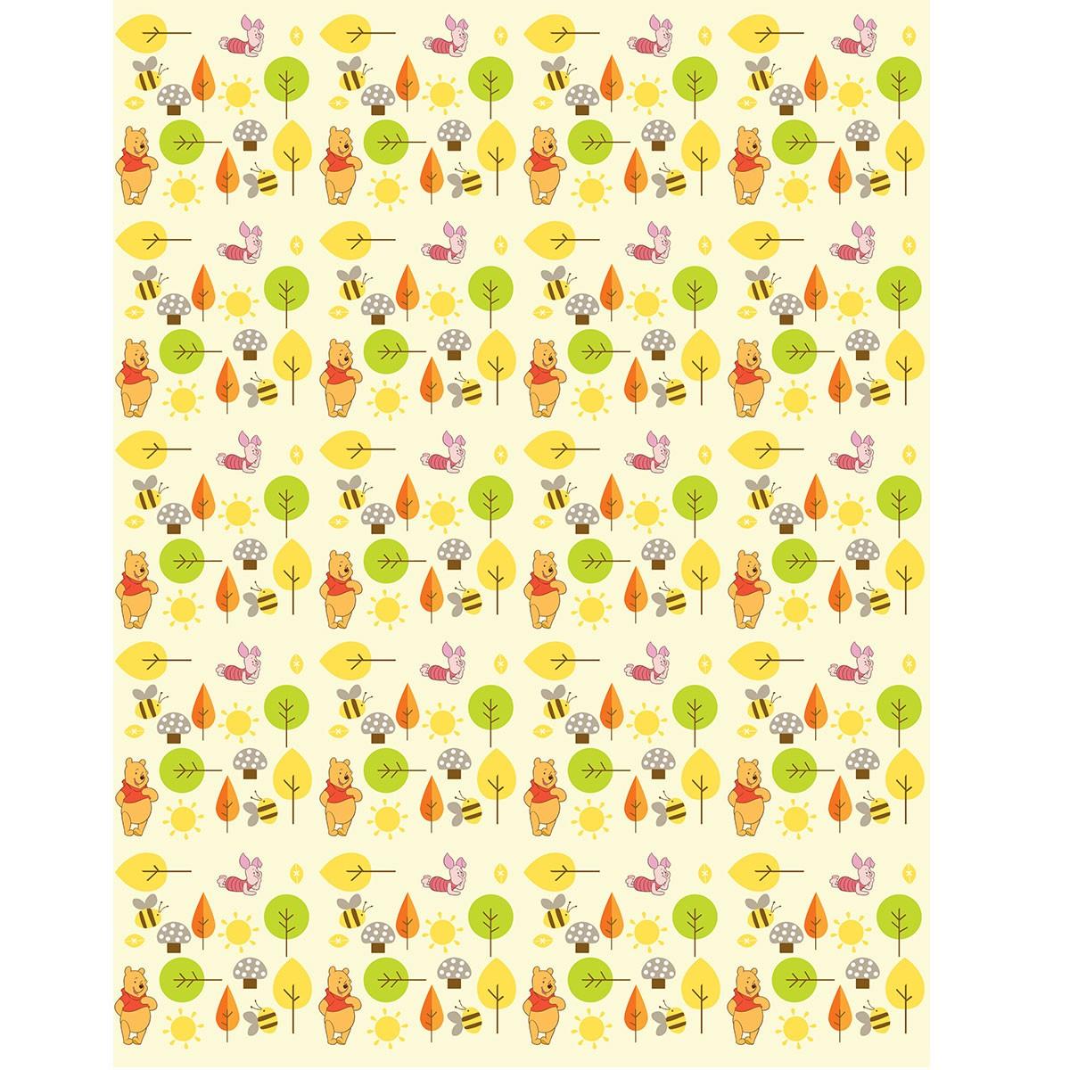 Παιδική Κουρτίνα (140x290) Με Τρέσα Disney Winnie WP107 Beige