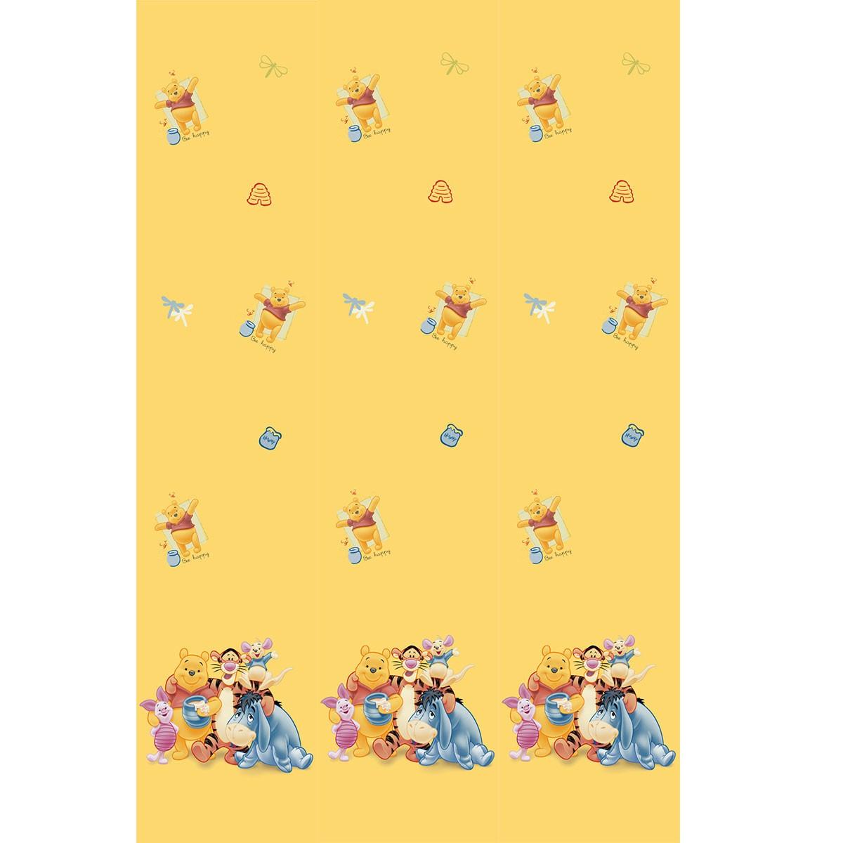 Παιδική Κουρτίνα (140x290) Με Τρέσα Disney Winnie WP140 Yellow