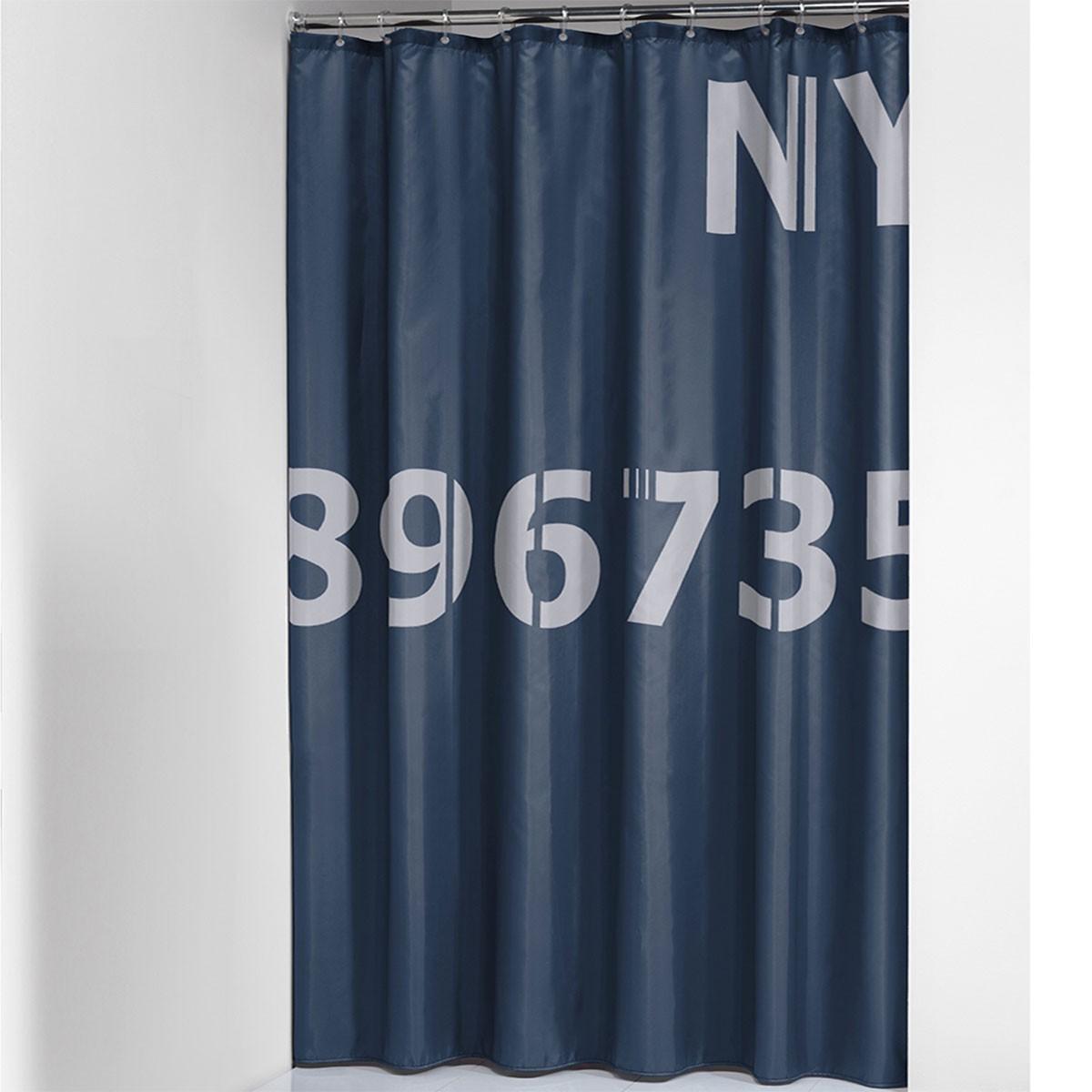 Κουρτίνα Μπάνιου (180x200) SealSkin Digits Blue