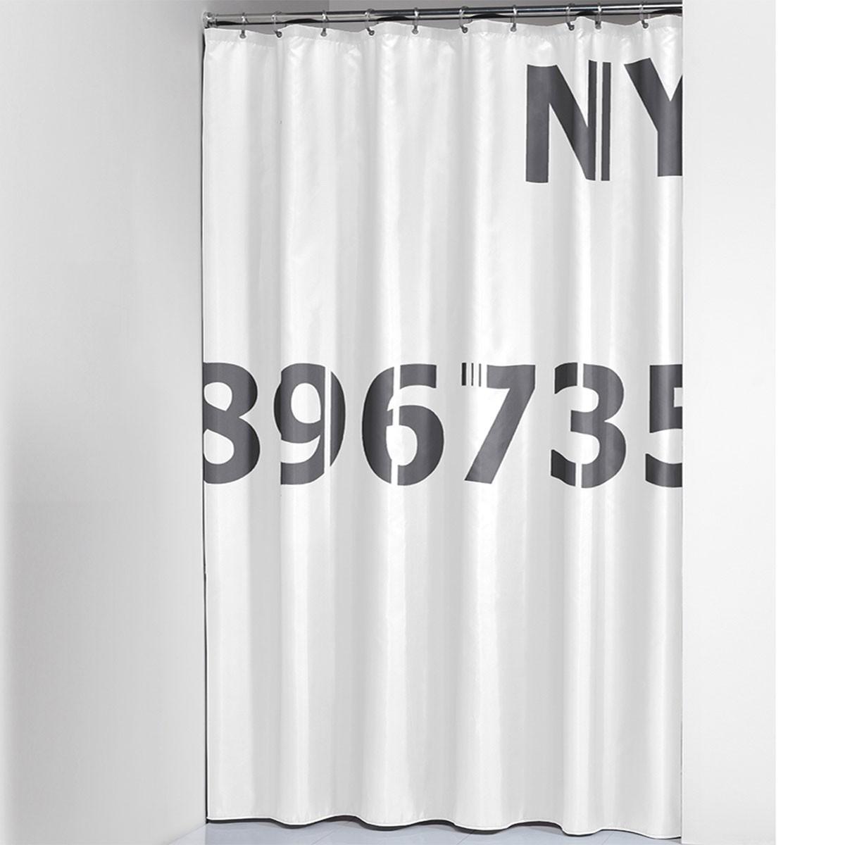 Κουρτίνα Μπάνιου (180x200) SealSkin Digits Grey