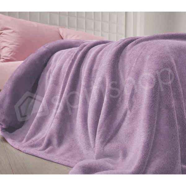 Κουβέρτα Fleece Υπέρδιπλη Nef-Nef Planet Μωβ