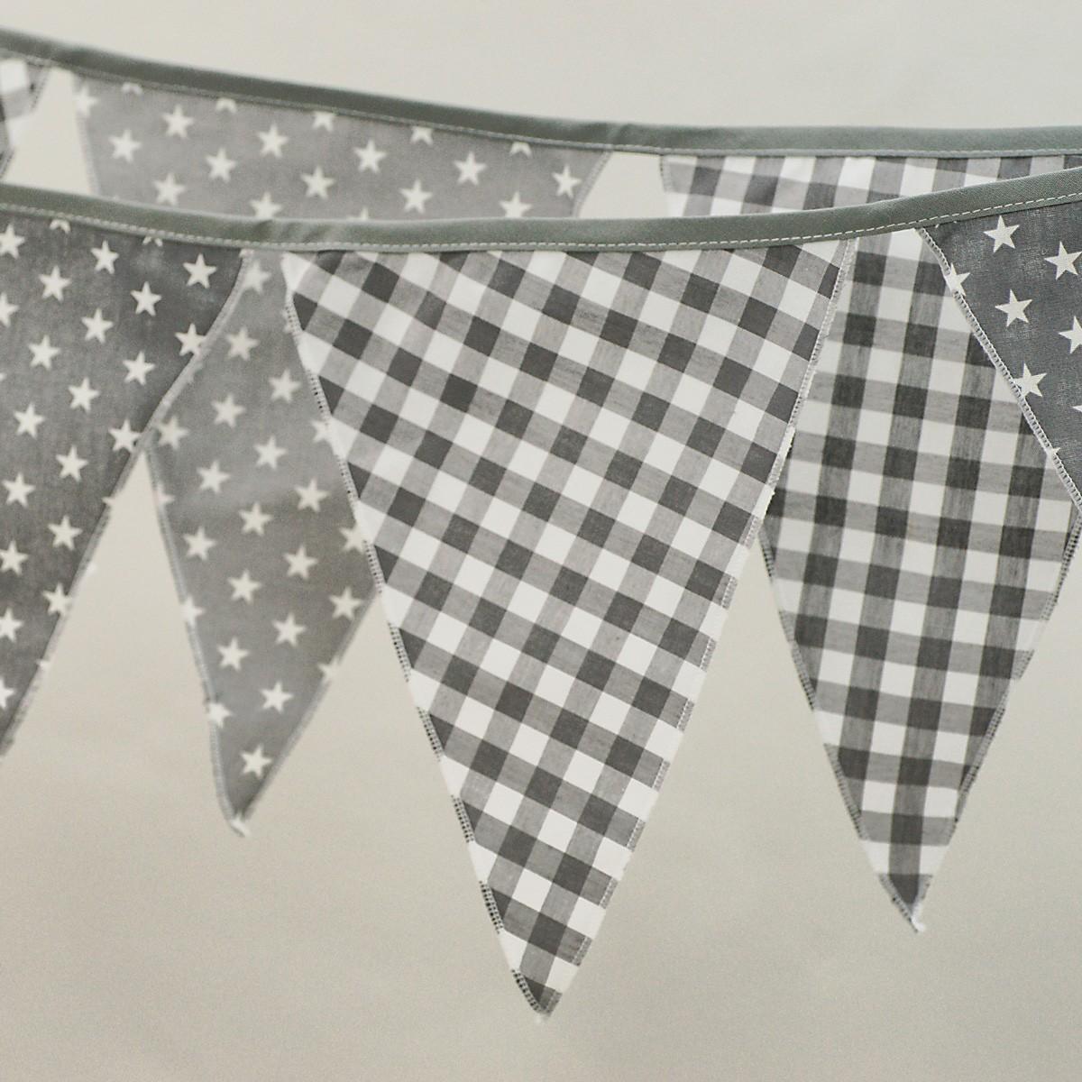 Διακοσμητικά Σημαιάκια Ninna Nanna Γκρι Αστέρι home   βρεφικά   βρεφική διακόσμηση