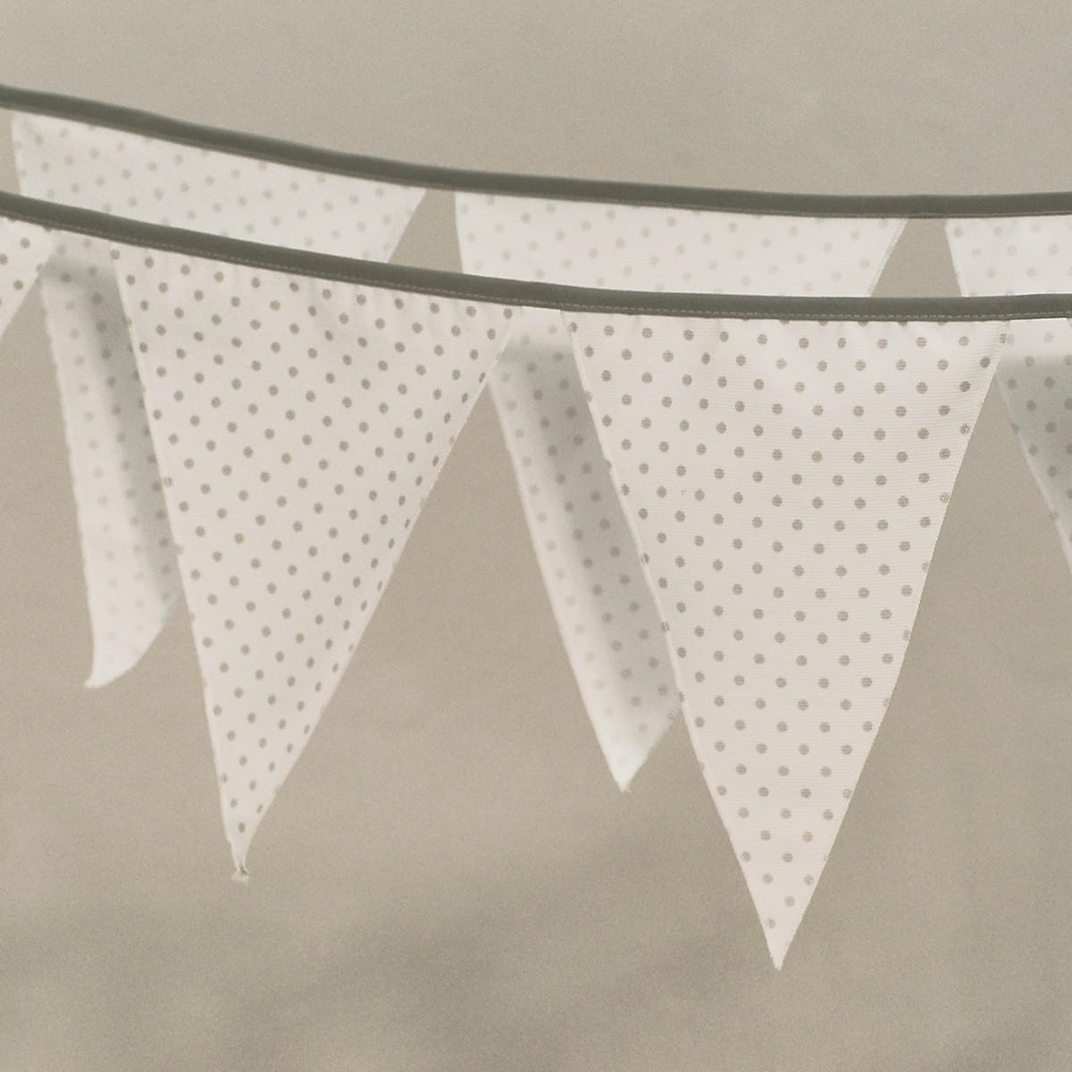 Διακοσμητικά Σημαιάκια Ninna Nanna Γκρι Πουά home   βρεφικά   βρεφική διακόσμηση