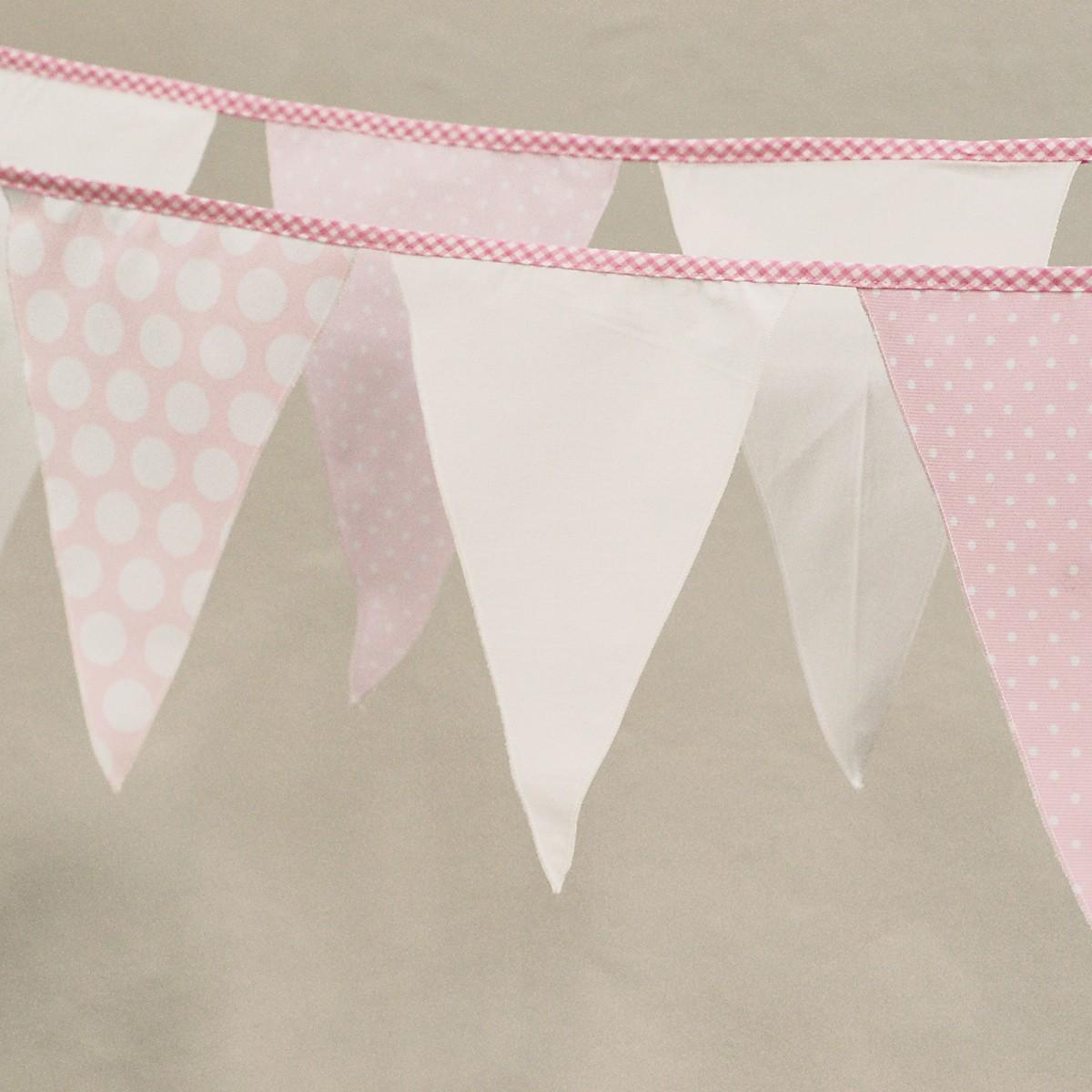 Διακοσμητικά Σημαιάκια Ninna Nanna Ροζ Πουά home   βρεφικά   βρεφική διακόσμηση