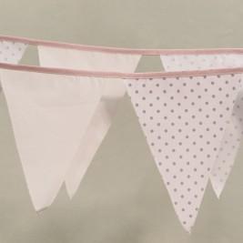 Διακοσμητικά Σημαιάκια Ninna Nanna Ροζ Γκρι