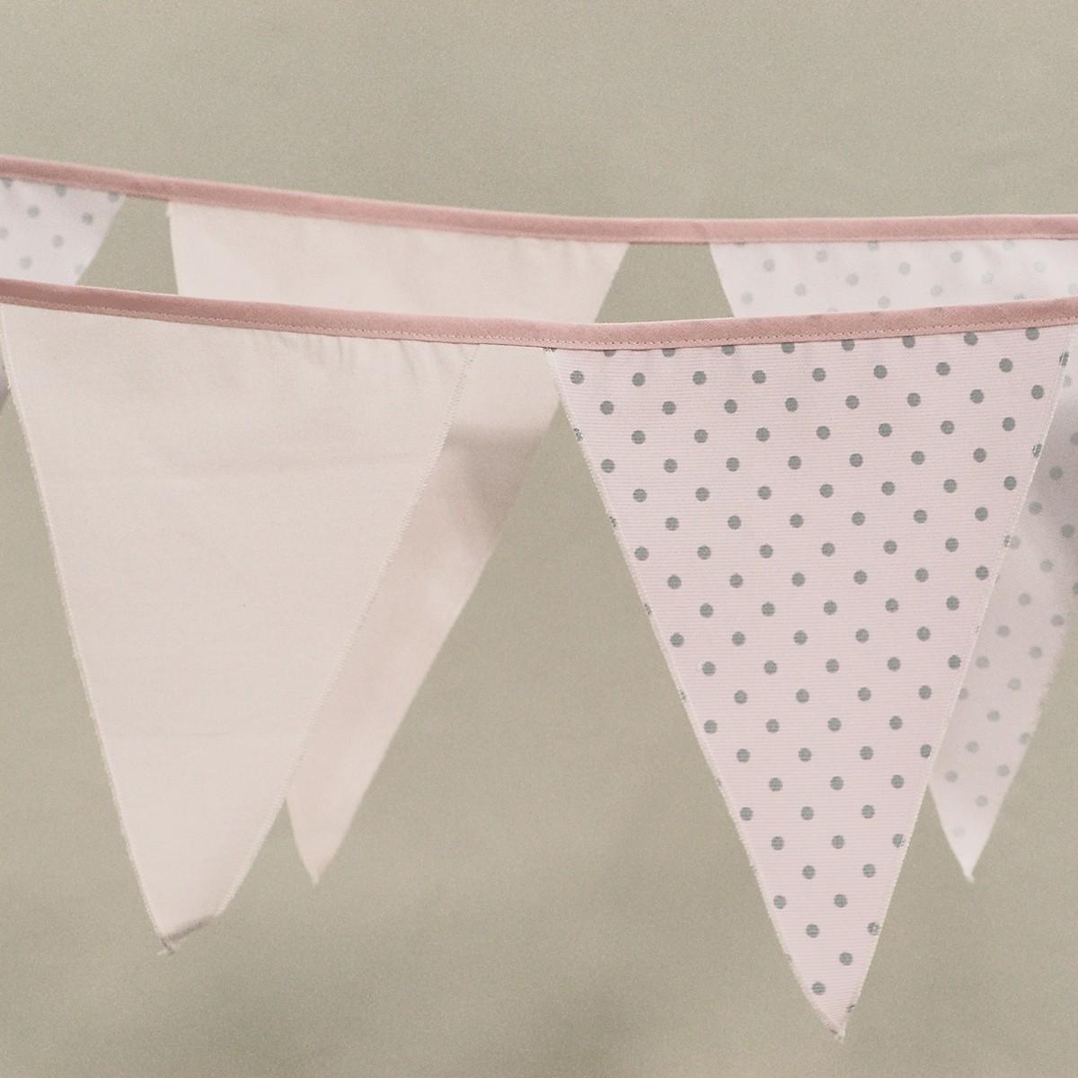 Διακοσμητικά Σημαιάκια Ninna Nanna Ροζ Γκρι home   βρεφικά   βρεφική διακόσμηση