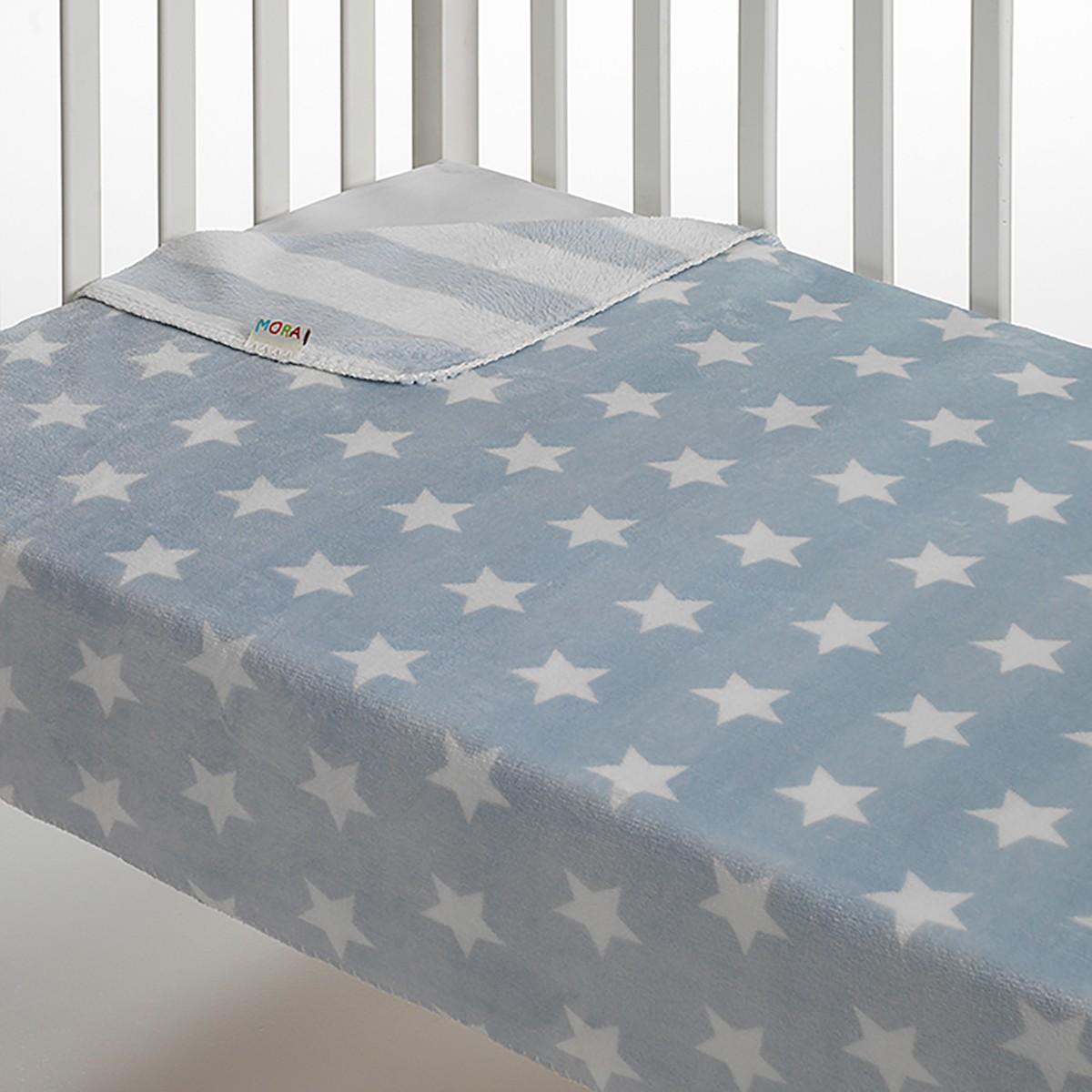 Κουβέρτα Fleece Αγκαλιάς Morven Stars Blue