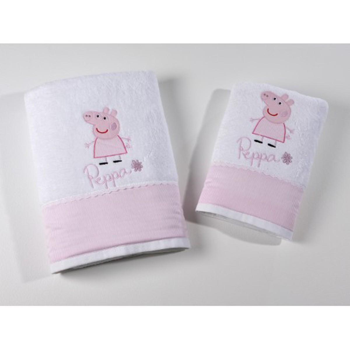 Πετσέτα Προσώπου (50×100) Down Town Peppa Pink