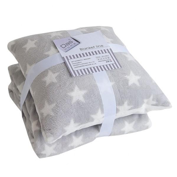 Κουβέρτα Καναπέ Fleece + Μαξιλάρι Das Home 324