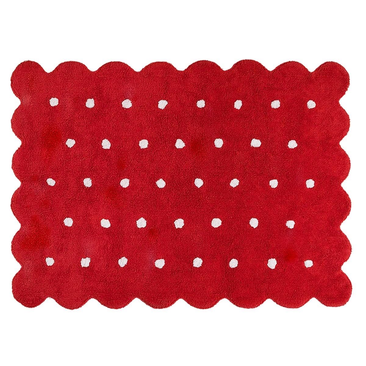 Πλενόμενο Χαλί (120×160) Lorena Canals Galleta Red 64496