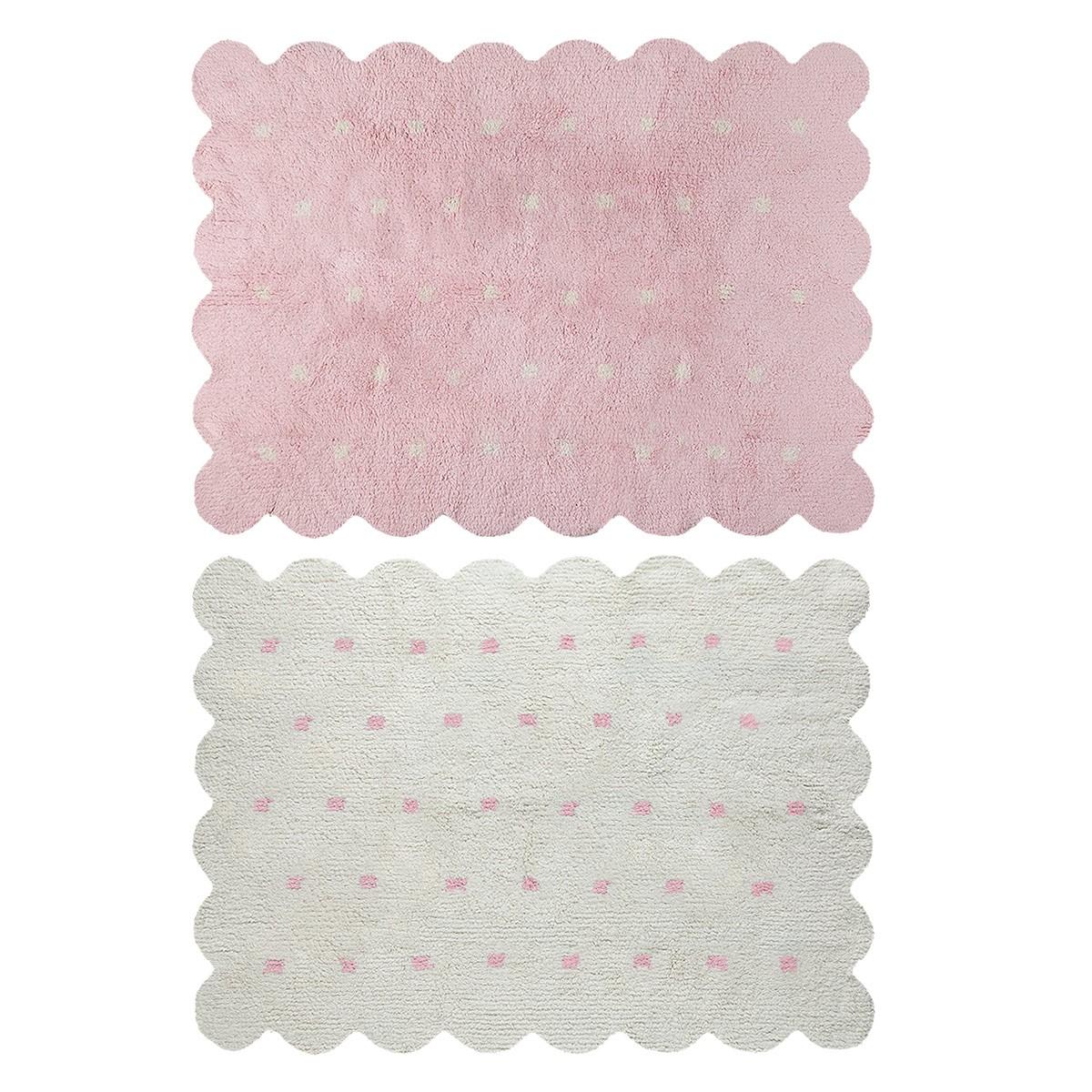 Πλενόμενο Χαλί Διπλής Όψης (120x160) Lorena Canals Galleta Pink