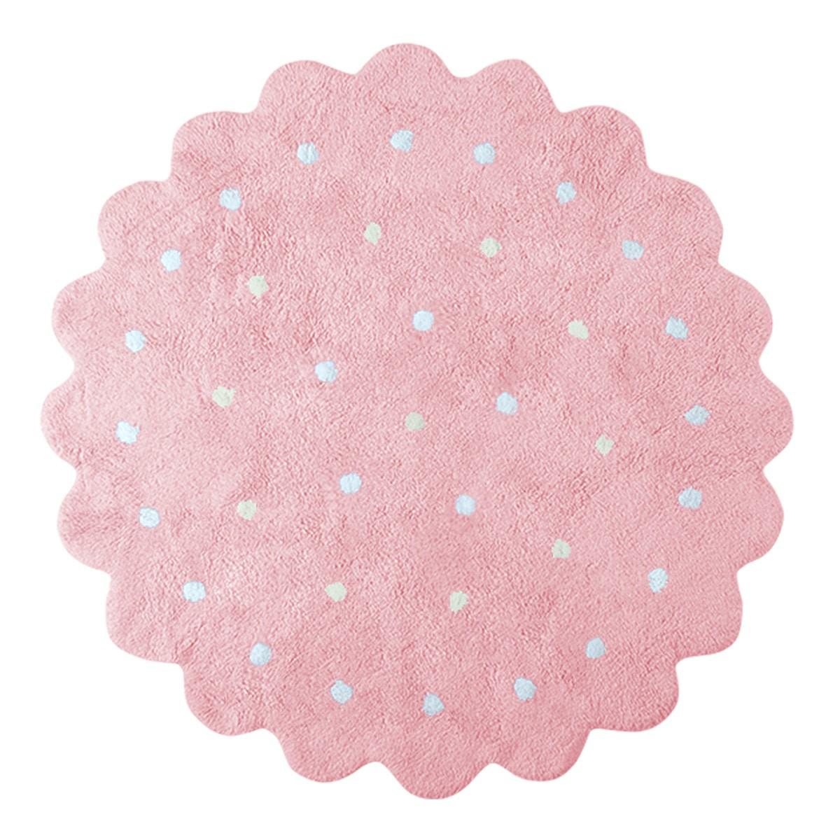 Πλενόμενο Στρογγυλό Χαλί (Φ140) Lorena Canals LittleBiscuit Pink