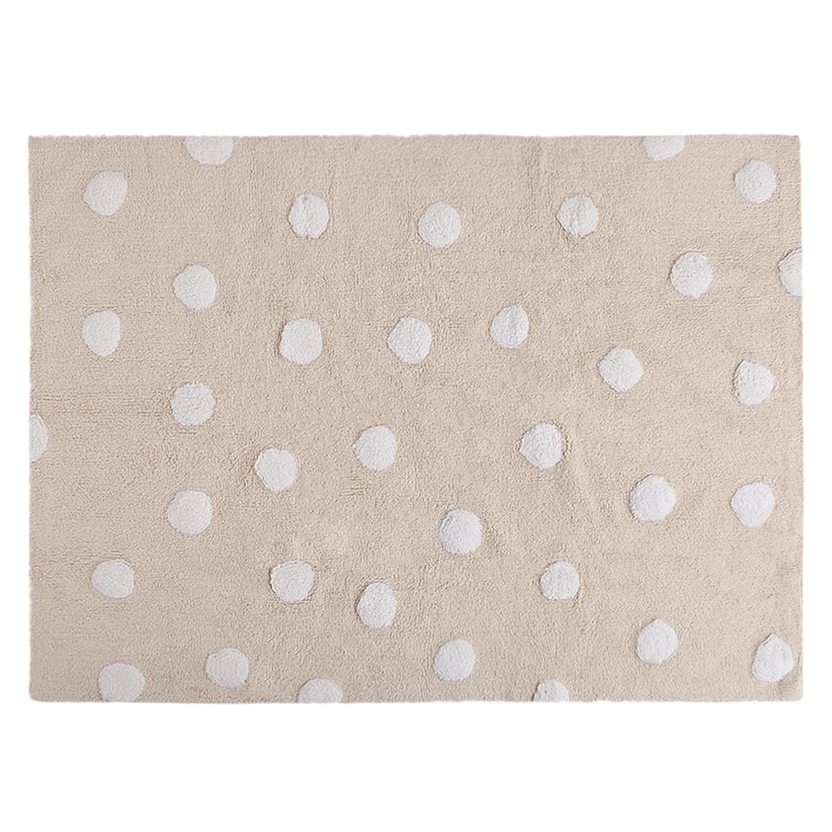 Πλενόμενο Χαλί (120x160) Lorena Canals Topos Beige-White