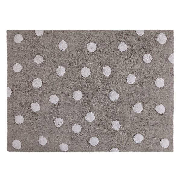 Πλενόμενο Χαλί (120x160) Lorena Canals Topos Grey-White