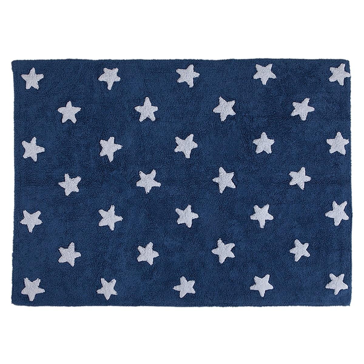 Πλενόμενο Χαλί (120x160) Lorena Canals Stars Navy-White