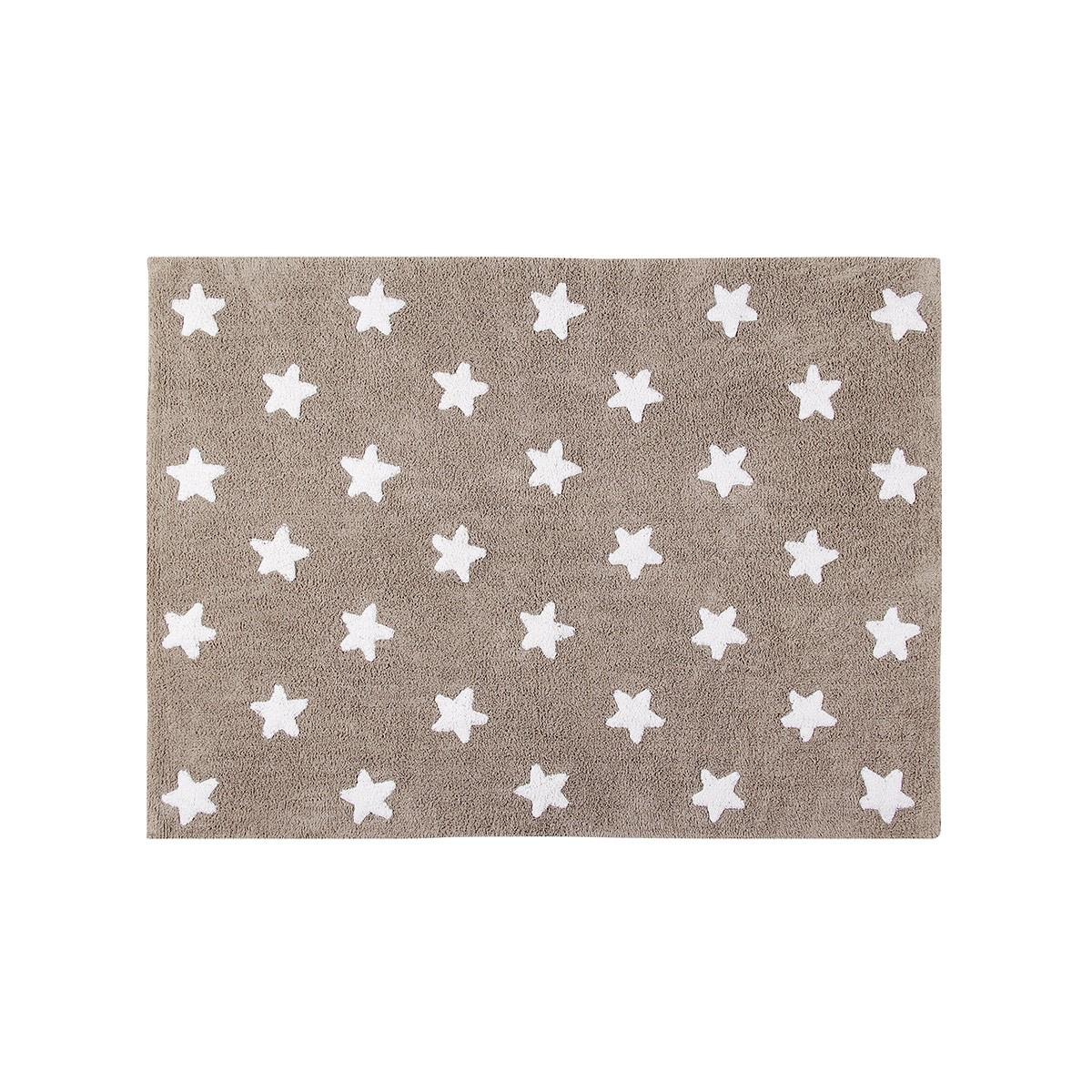Πλενόμενο Χαλί (120x160) Lorena Canals Stars Linen-White