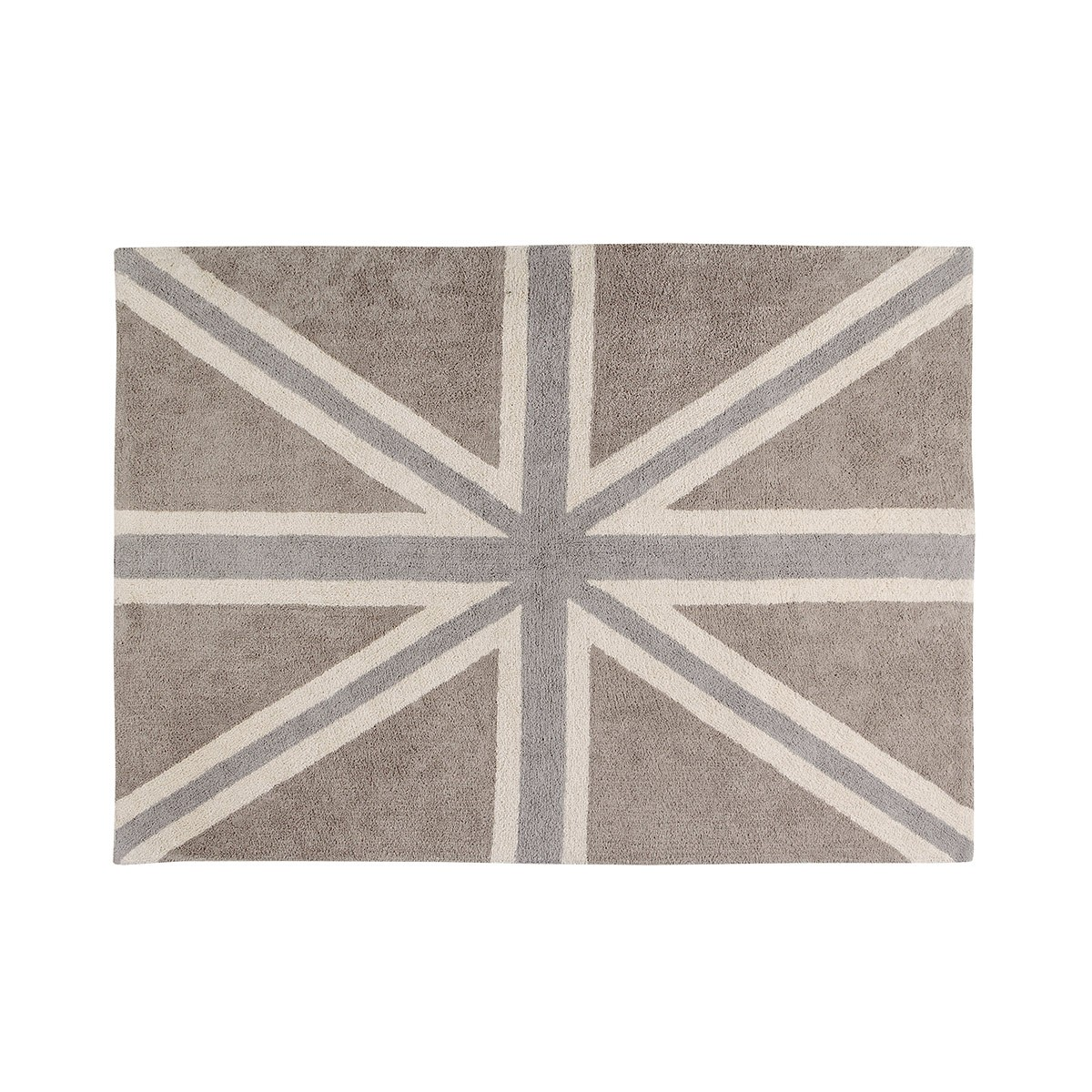 Πλενόμενο Χαλί (140x200) Lorena Canals UK Flag Linen-Grey
