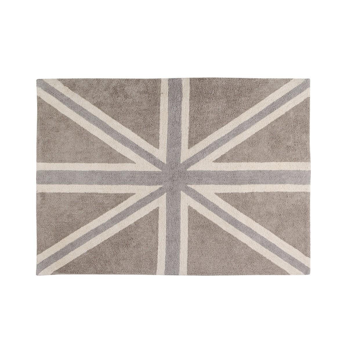 Πλενόμενο Χαλί (140x200) Lorena Canals UK Flag Linen-Grey