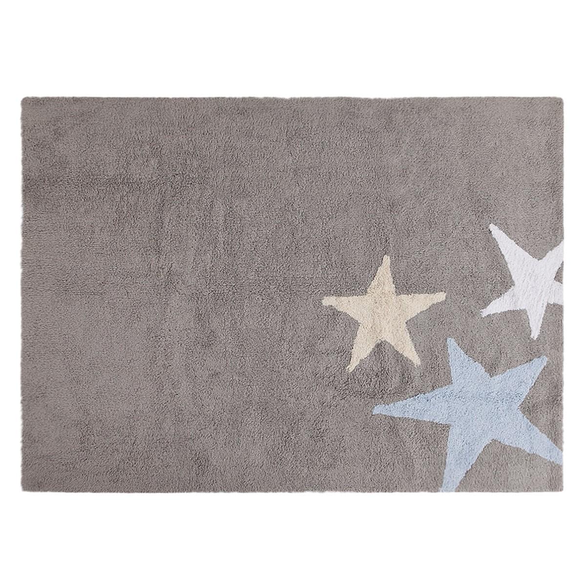 Πλενόμενο Χαλί (120x160) Lorena Canals Tres Estrellas Grey-Blue