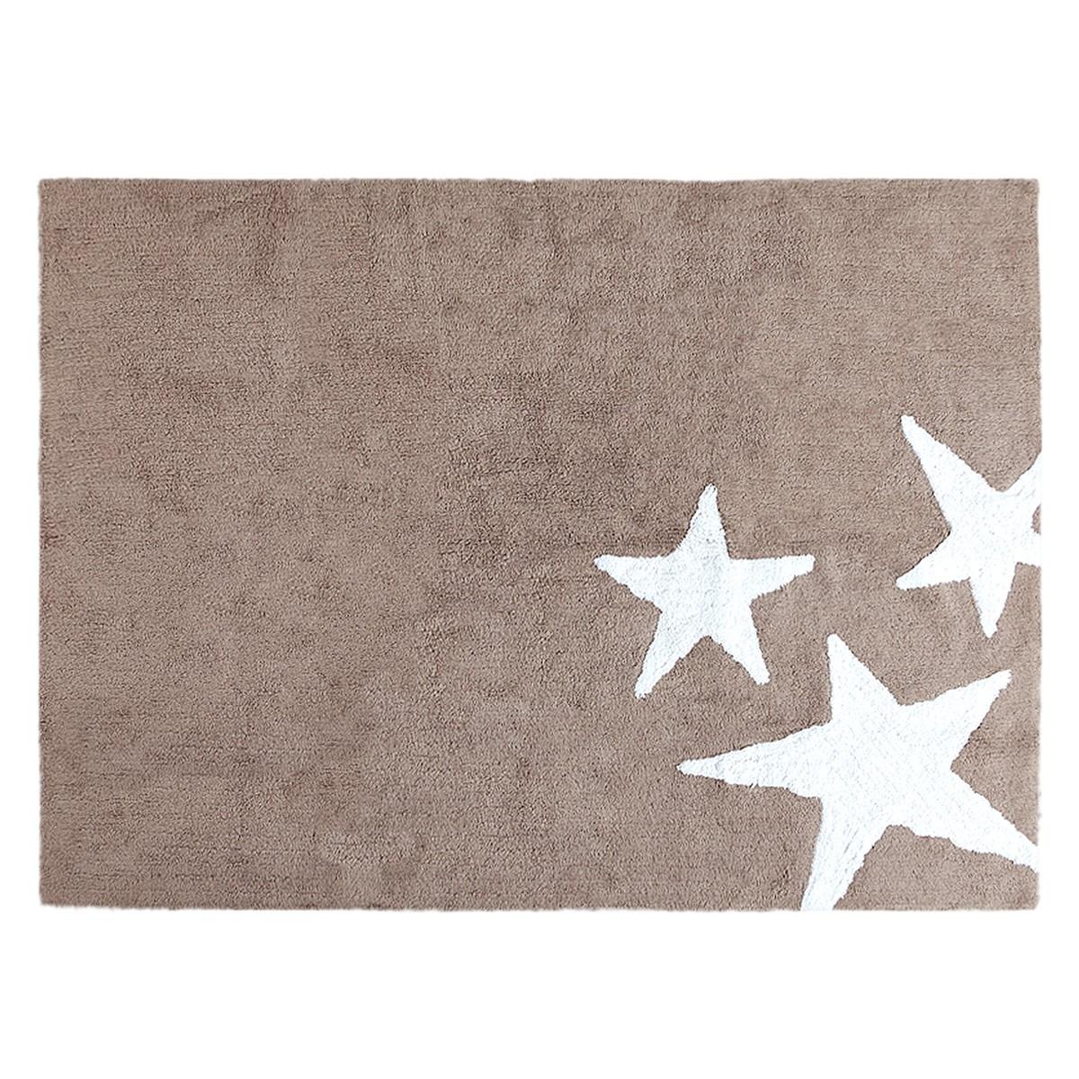 Πλενόμενο Χαλί (120x160) Lorena Canals TresEstrellas Linen-White