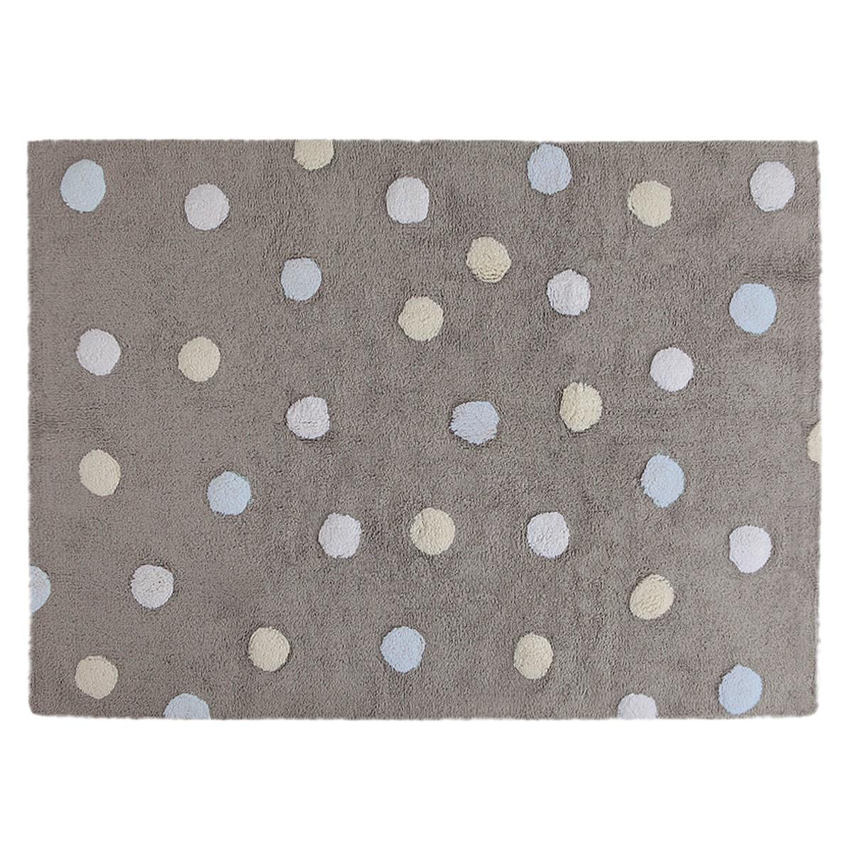 Πλενόμενο Χαλί (120x160) Lorena Canals Topos Tricolor Grey-Blue