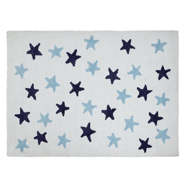 Πλενόμενο Χαλί (120x160) Lorena Canals Messy Stars White-Blue