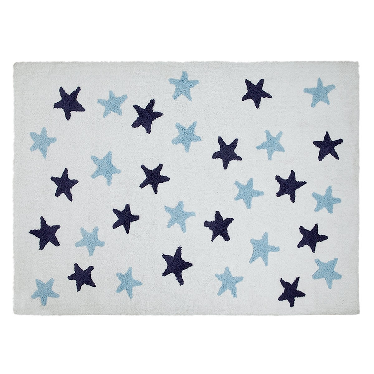 Πλενόμενο Χαλί (120x160) Lorena Canals Messy Stars White-Blue