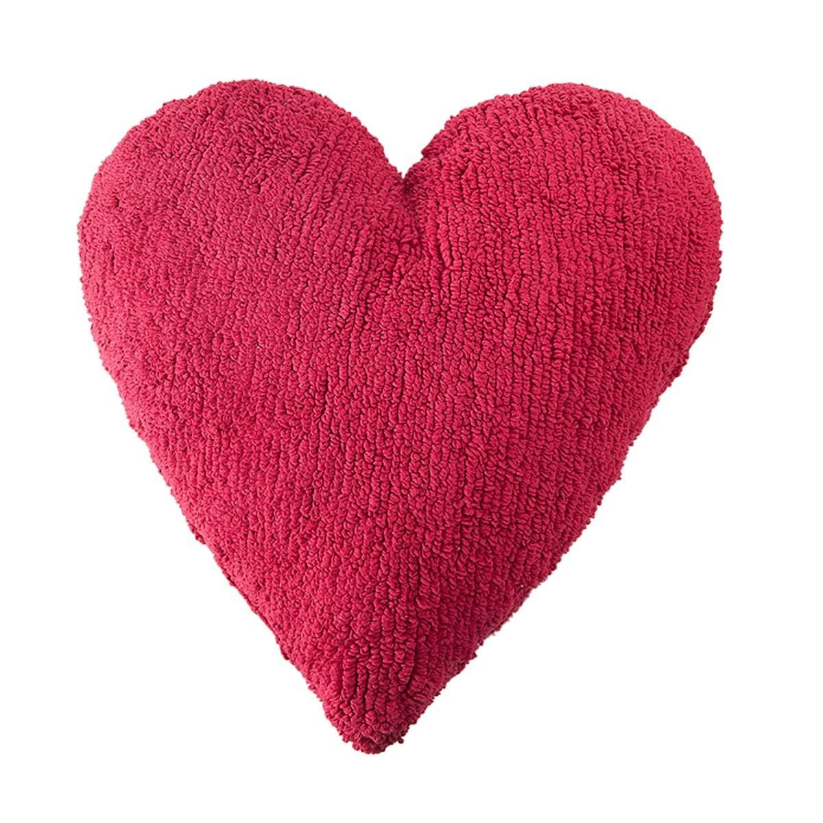 Διακοσμητικό Μαξιλάρι Lorena Canals Heart Fuchsia